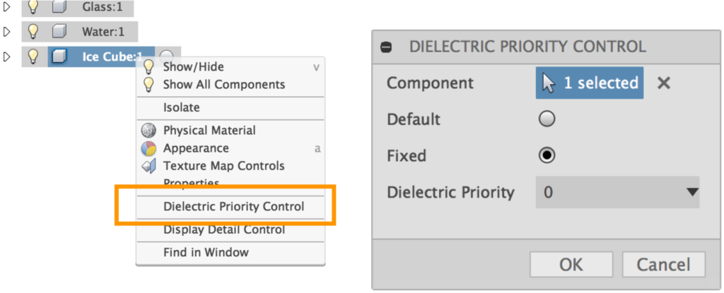 Dielectric Priority Control