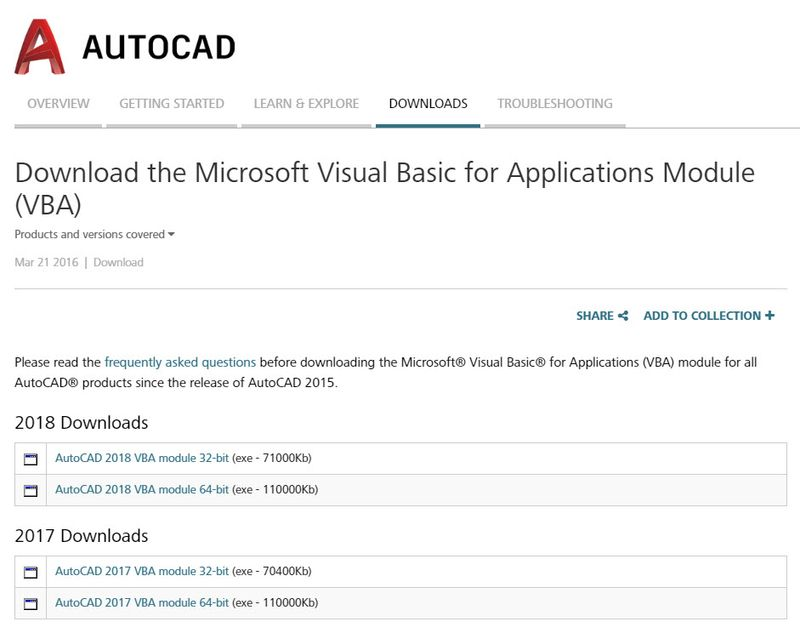 Приложение AutoCAD VBA и особенности работы с ним | ПОИНТ